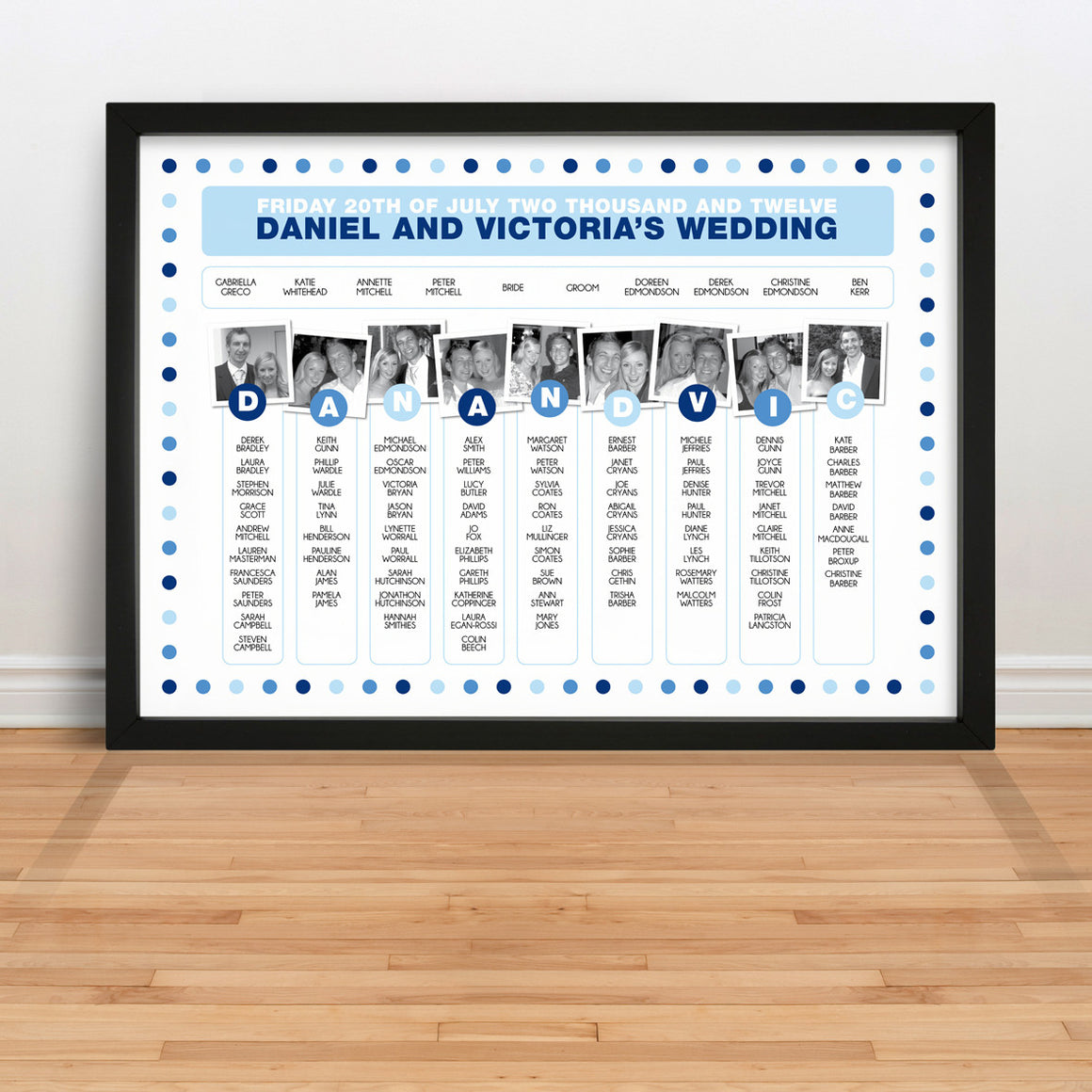 Photo Wedding Table Plan