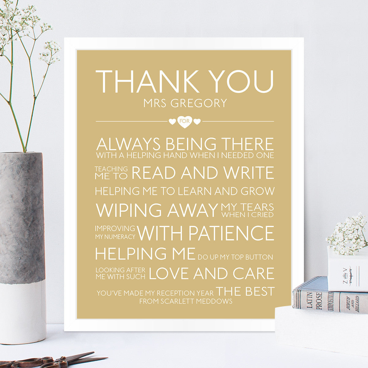 thank you teacher gift in latte - Teacher Pictures To Print
