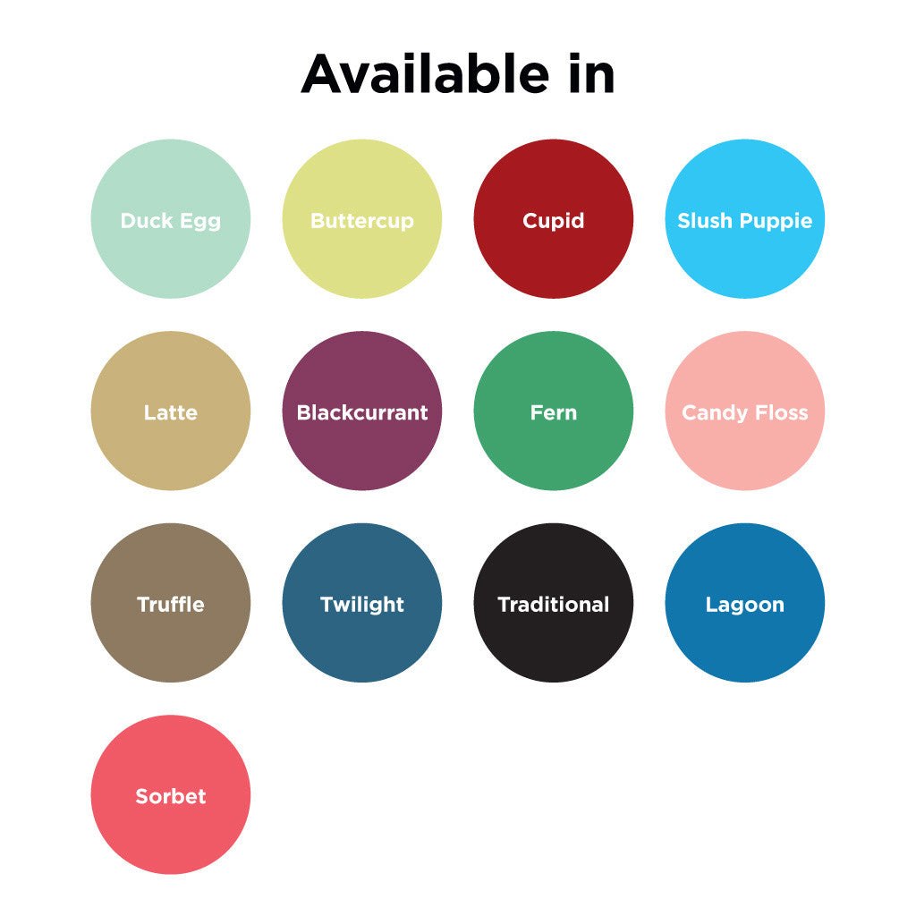 Personalised Wordle Print Colour Options