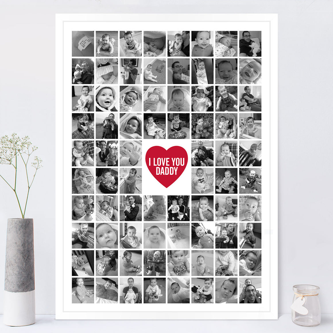 Photo Collage Print Black and White