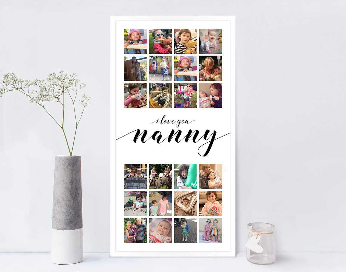 Mothers Day Photo Collage Print Nanny