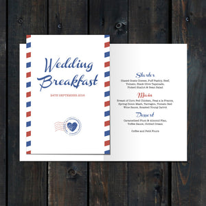 Priority Airmail Menu Card