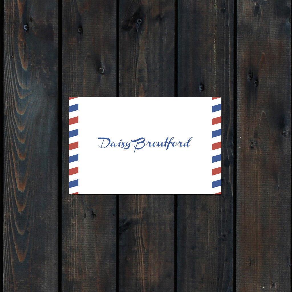Priority Airmail Place Card