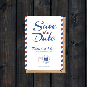 Priority Airmail Save the Date Card
