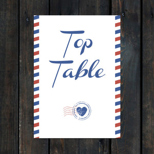Priority Airmail Table Name Card