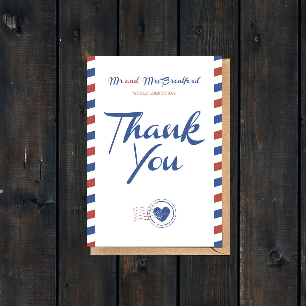 Priority Airmail Thank You Card