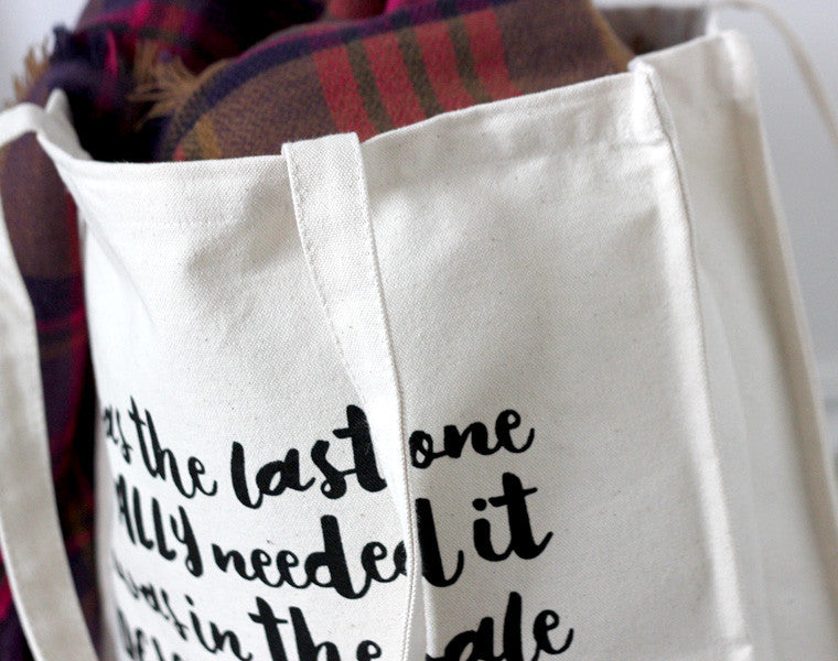 It's in the Bag! Tote Bag close up