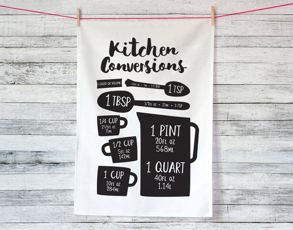 Kitchen Conversions Volumes Tea Towel