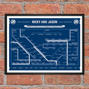 Railway Wedding Table Plan
