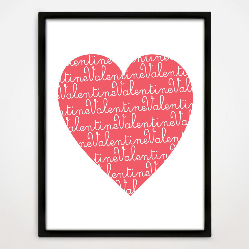 Valentine's Day Heart Print in Sorbet