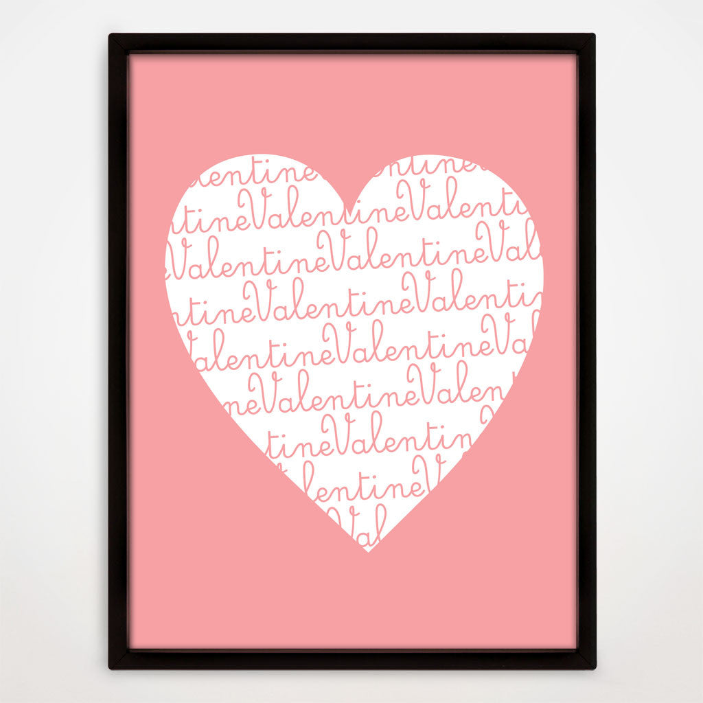 Valentine's Day Heart Print in Candy Floss