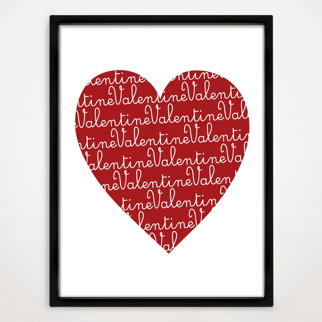 Valentine's Day Heart Print in Cupid
