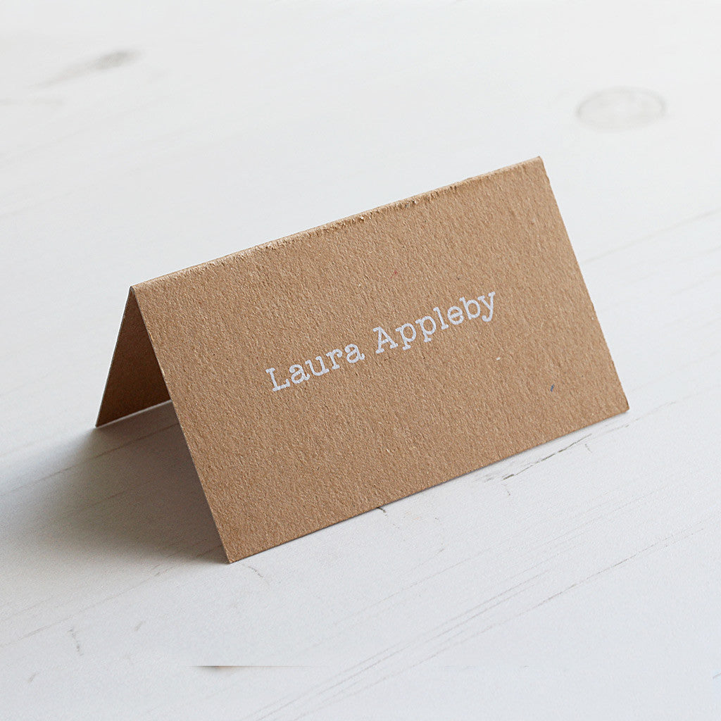 Vintage Rustic Place Card