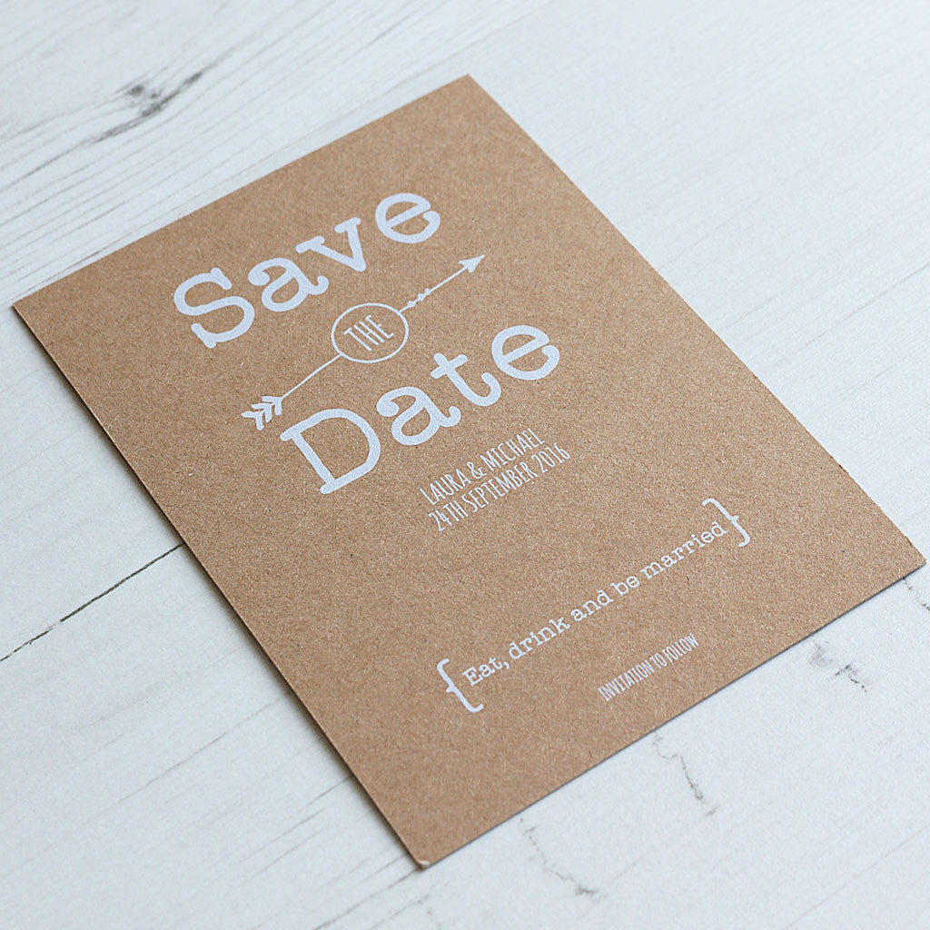 Vintage Rustic Save the Date Card