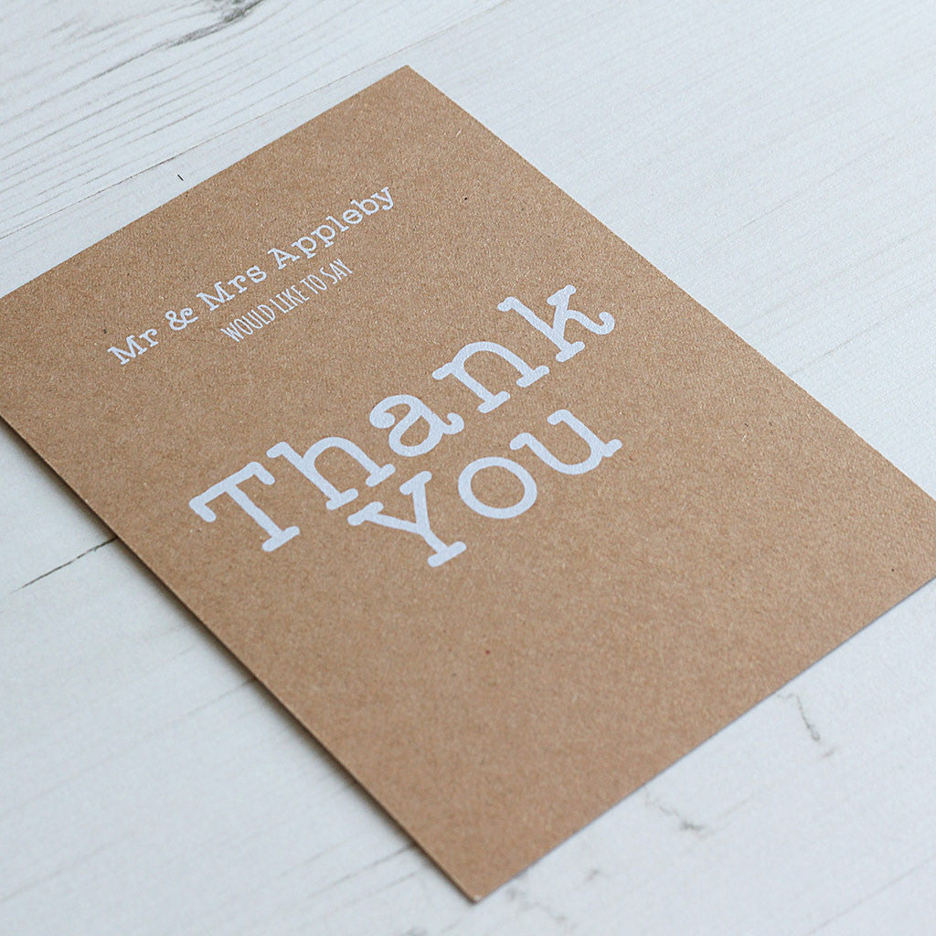 Vintage Rustic Thank You Card