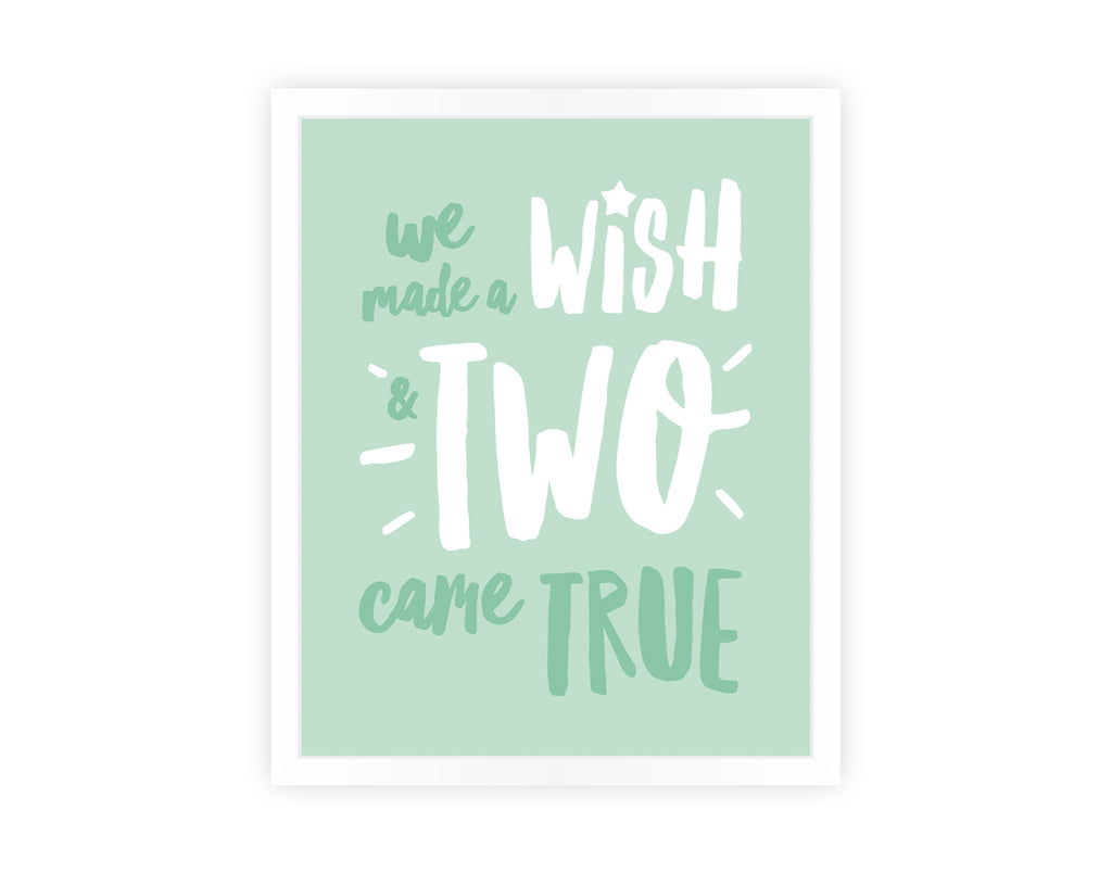 'WE MADE A WISH' (TWINS) PRINT