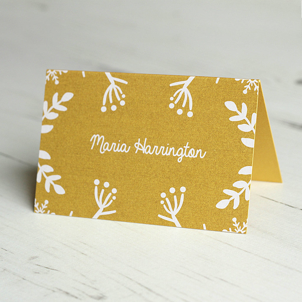 Winter Festive Place Card