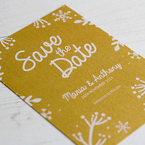 Winter Festive Save the Date Card