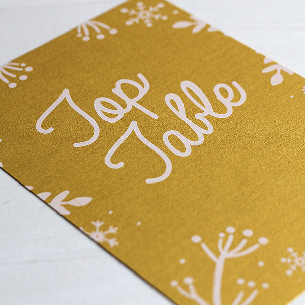Winter Festive Table Name Card