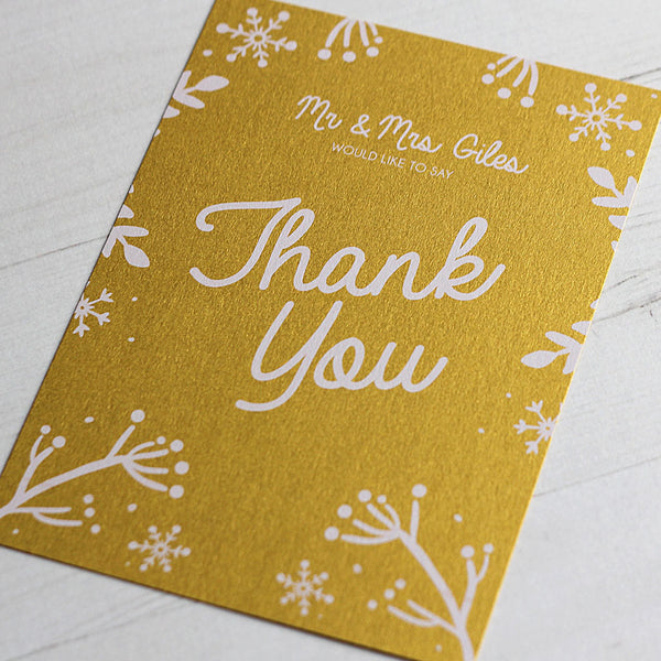 Winter Festive Thank You Card