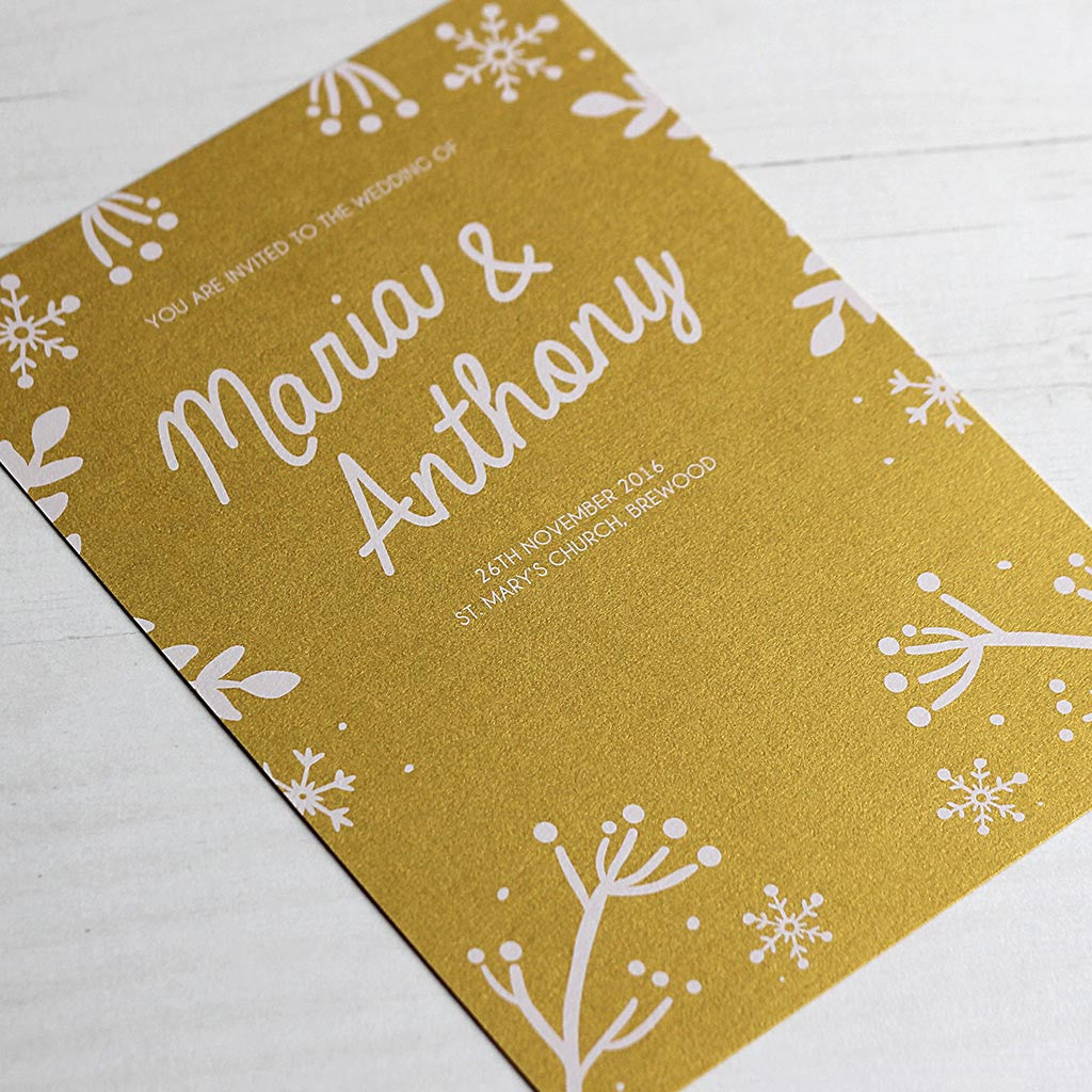 Winter Festive Wedding Invitation