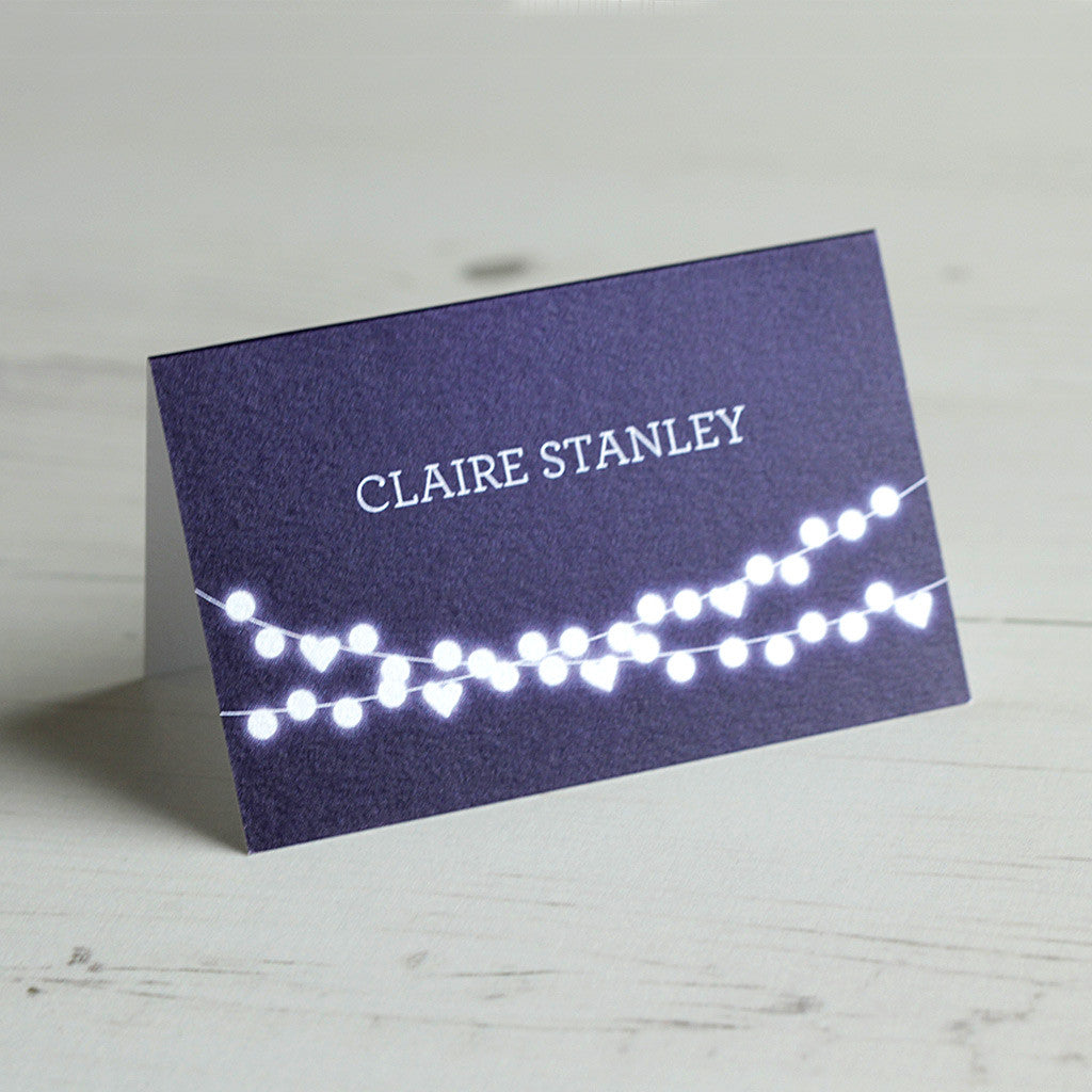 Winter Lights Place Card