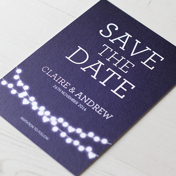 Winter Lights Save the Date Card