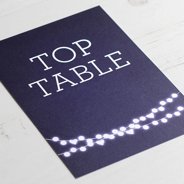 Winter Lights Table Name Card