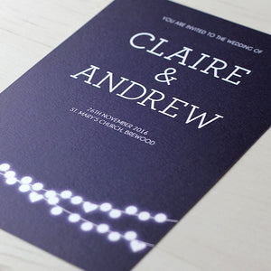 Winter Lights Wedding Invitation