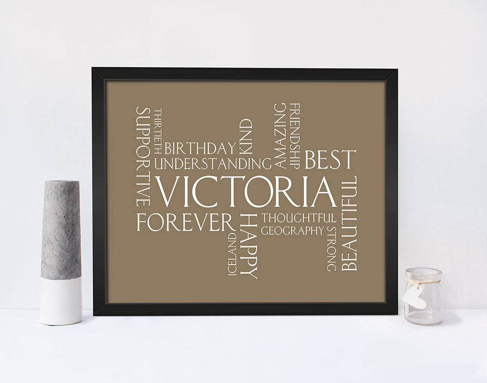 PERSONALISED WORDLE PRINT