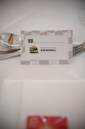 Formula 1 Wedding Table Place / Table Name Card