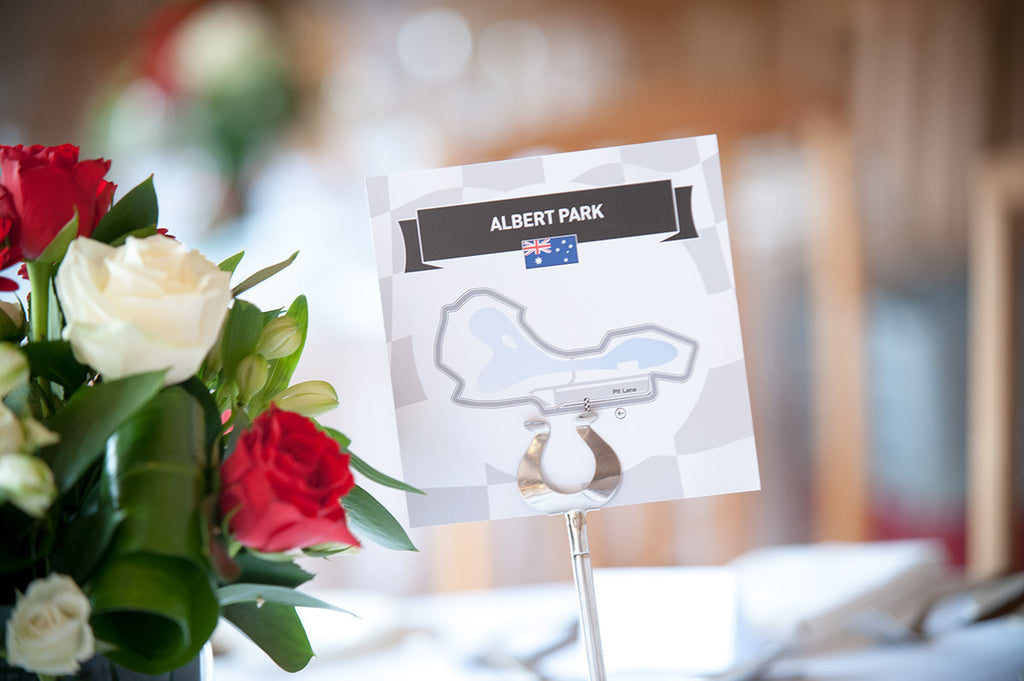 Formula 1 Wedding Table Name/Number Card