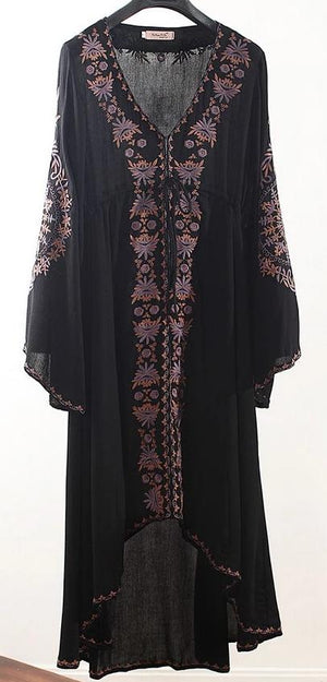 'Carolina' Embroidered Bell Sleeve High Low Dress (in 5 colours!)