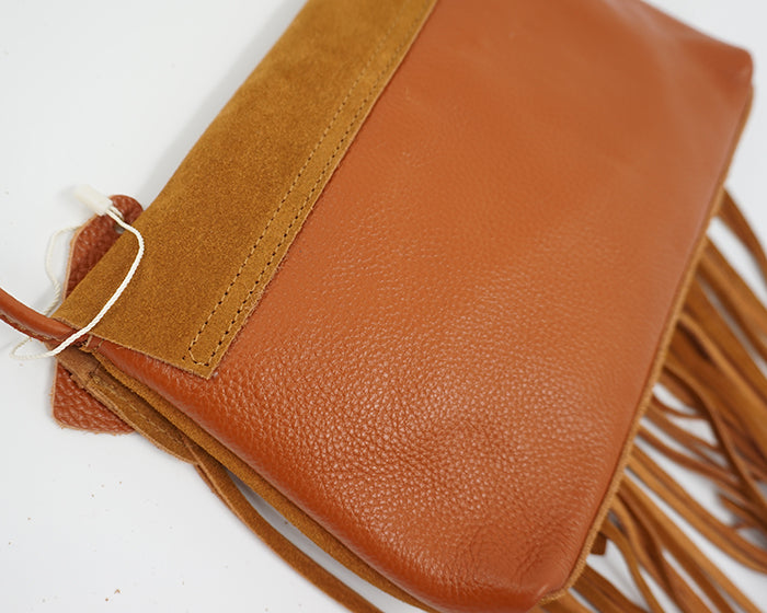 'Hayley' Genuine Suede Crossbody Bag With Tassels (2 Colours)
