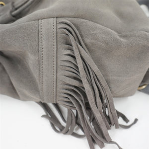 'Wisteria' Bohemian Suede Backpack With Tassels (2 Colours)