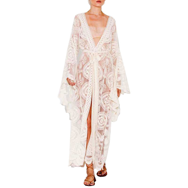 'Liliana' Mandala Embroidered Kimono Lace Jacket (3 colours)