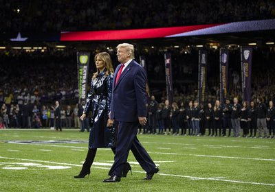 Trump welcomed with loud cheers at the LSU-Clemson Game