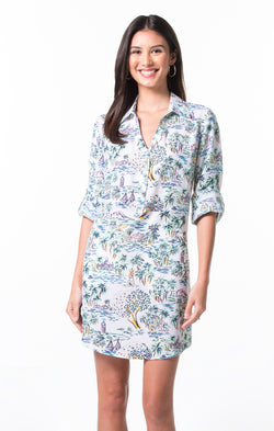 Aloha Toile Gidget Dress
