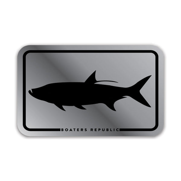 Tarpon Box Decal - Silver