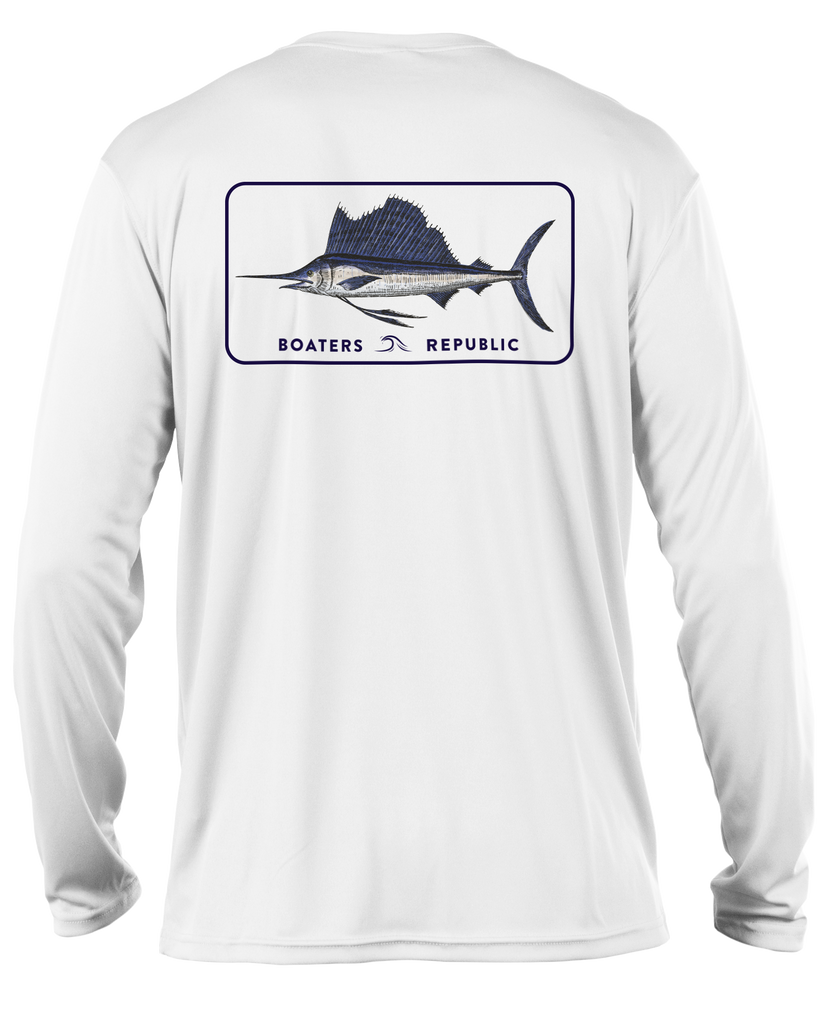 Sailfish Stamp L/S - Performance White