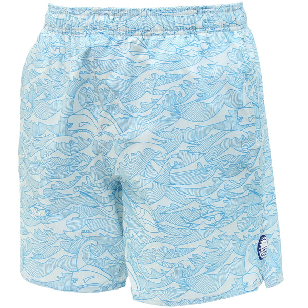 AFTCO Wavy Gravy Stretch Swim Trunks - Vapor