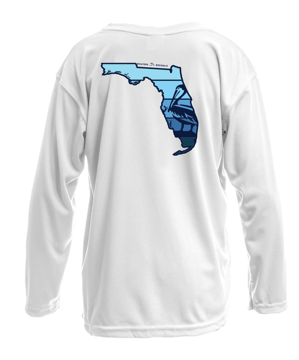 Youth Florida Pelican L/S - Performance White