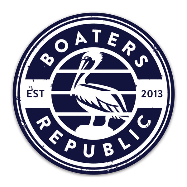 Pelican Stamp Decal - Navy