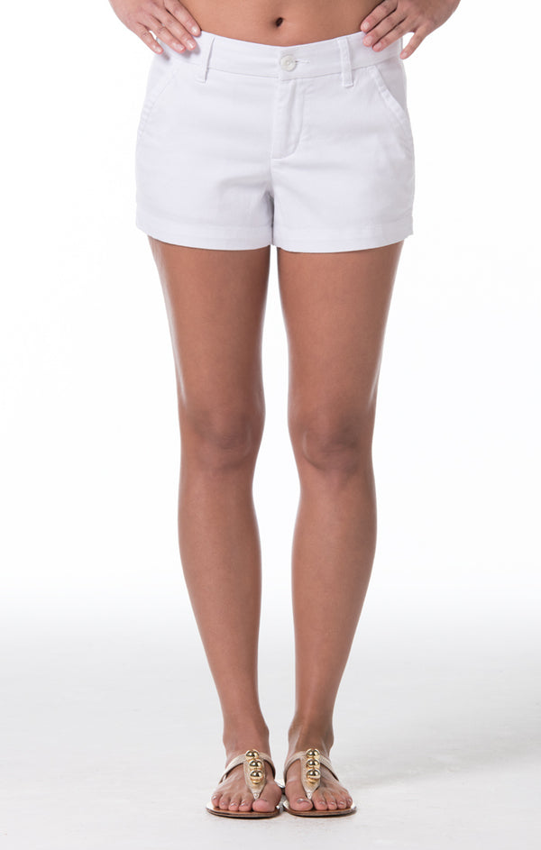 Denim Twill Sandi Short - White