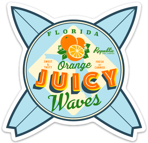 Juicy Waves Decal