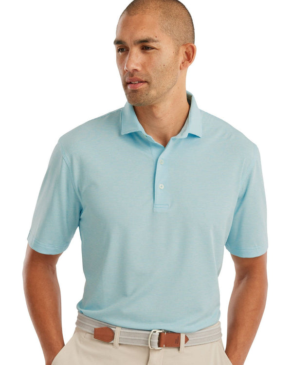 Birdie PREP-FORMANCE Jersey Polo - Lyndon Stripe - Barbados Blue