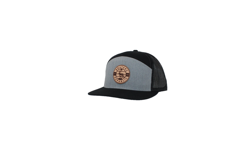 Pelican Patch 2.0 Trucker Hat - Split Black/Charcoal