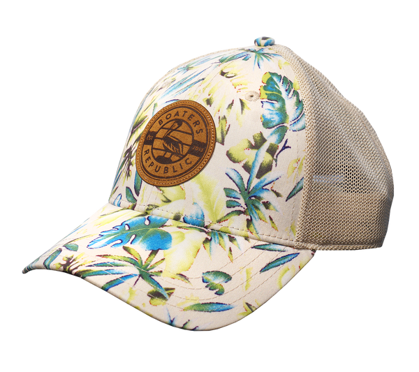 Suede Pelican Stamp Hat - Tropical Stone