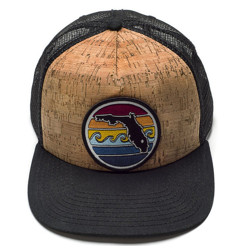 Florida Sunset Trucker Hat Cork / Black