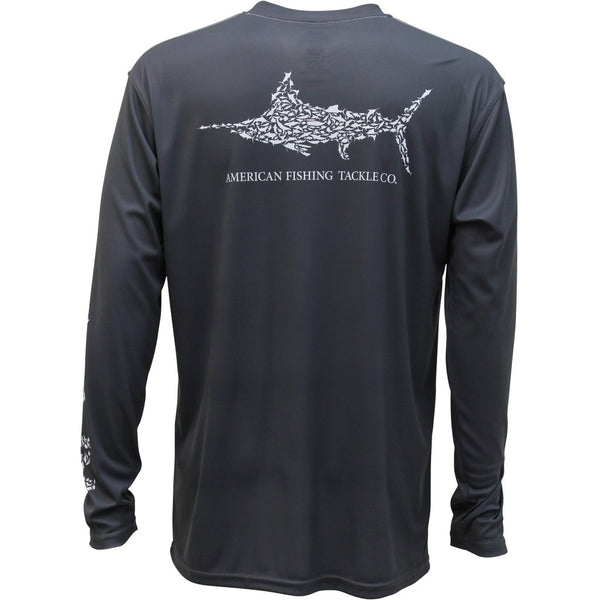 AFTCO Jigfish L/S Shirt - Charcoal